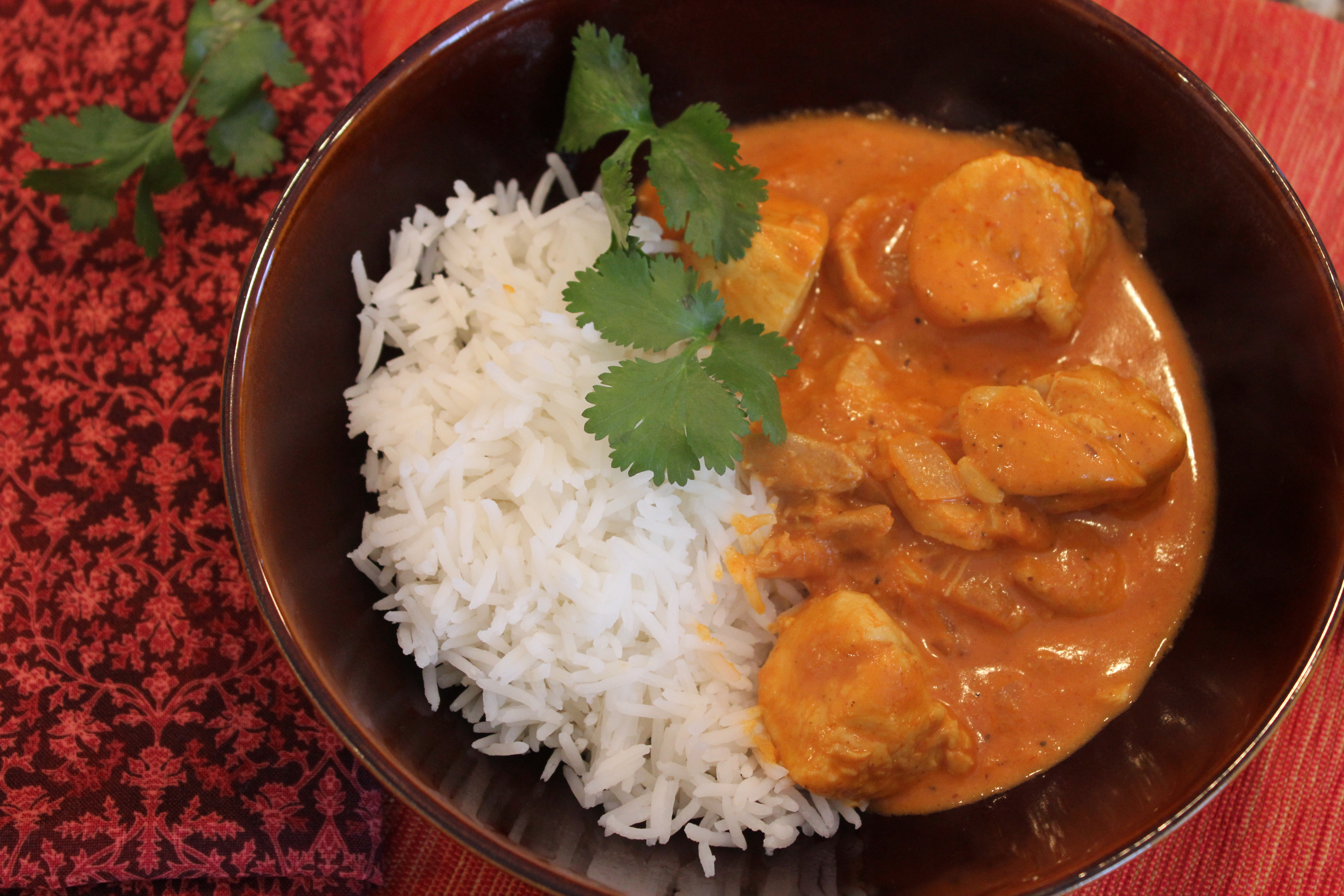 Indian Butter Chicken Recipe With Scented Basmati Rice