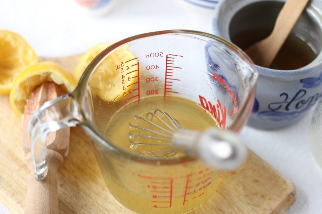 stirring up the homemade cough syrup