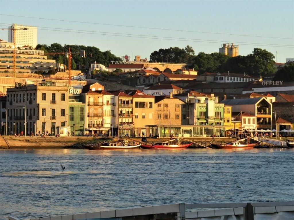 fish pate; sunset in Porto