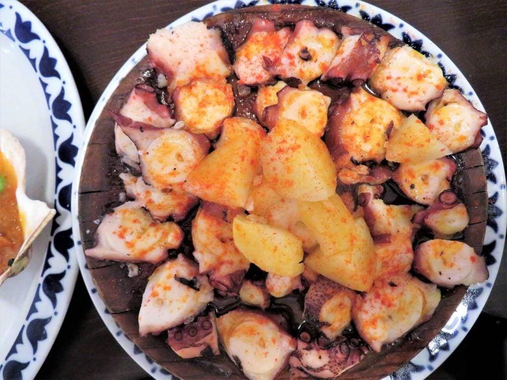 fish pate; octopus platter