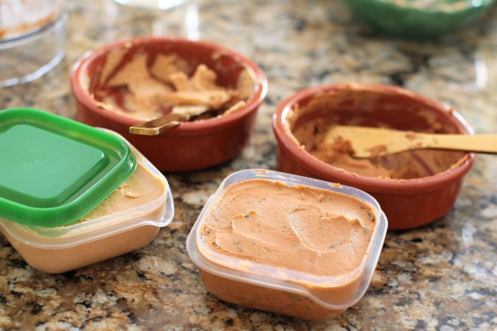 pack up the fish pate to freeze